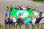 THE COLOUR GREEN: Pupils from the Green school committee in Caherleaheen national school were celebrating with teacher Brid Murphy (Green schools co-ordinator) for achieving their second Green Flag. Pictured were: Oonagh McGrath, Ciarán Sears, Seamus Harty, Cathal McLouglin, Darrion Hurley, Ben Foley, Luke O'Carroll, Alex O'Shea, Graham Hudson, Harry Emerson, Sean Foley, Ethan Dobbin, Jordan Mason, Lisa Costello, Neil Stuart, Bríd Murphy (teacher), Kristina Flannery, Jennifer Lynch and Eimear Murphy.