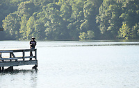 NWA Democrat-Gazette/J.T. WAMPLER Anthony Erby of Fayetteville fishes Sunday June 10, 2018 at Lake Fayetteville. The Parks and Recreation Department held a free fishing weekend at Lake Fayetteville and Lake Sequoyah Saturday and Sunday. The weekend coincided with Arkansas Game and Fish CommissionÕs free fishing weekend.