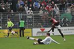 Sandhausen 19.04.2008, Am Boden Christian Beisel (SV Sandhausen) und beim Schuss Ali Gerba (Ingolstadt) in der Regionalliga S&uuml;d 2007/08 SV Sandhausen 1916 - FC Ingolstadt 04<br /> <br /> Foto &copy; Rhein-Neckar-Picture *** Foto ist honorarpflichtig! *** Auf Anfrage in h&ouml;herer Qualit&auml;t/Aufl&ouml;sung. Belegexemplar erbeten.
