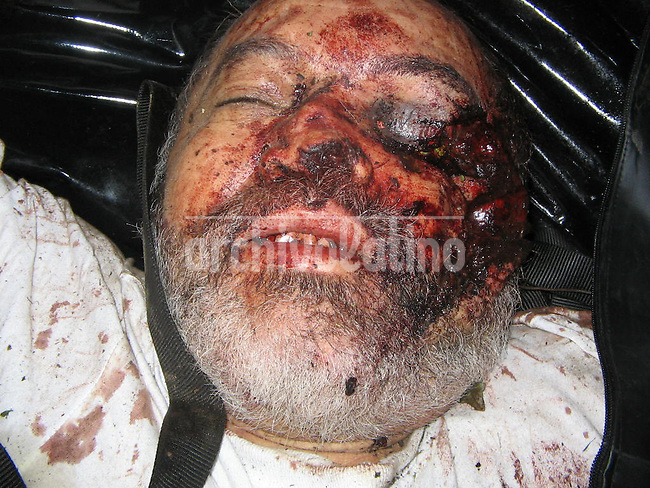 This photo released by Colombian Police shows the corpse of FARC leftist guerrilla leader Raul Reyes, killed by Colombian forces in the North of Ecuador. Reyes was the number 2 of the guerrilla group, under the mithic leader Manuel Marulanda, alias Tiro Fijo.