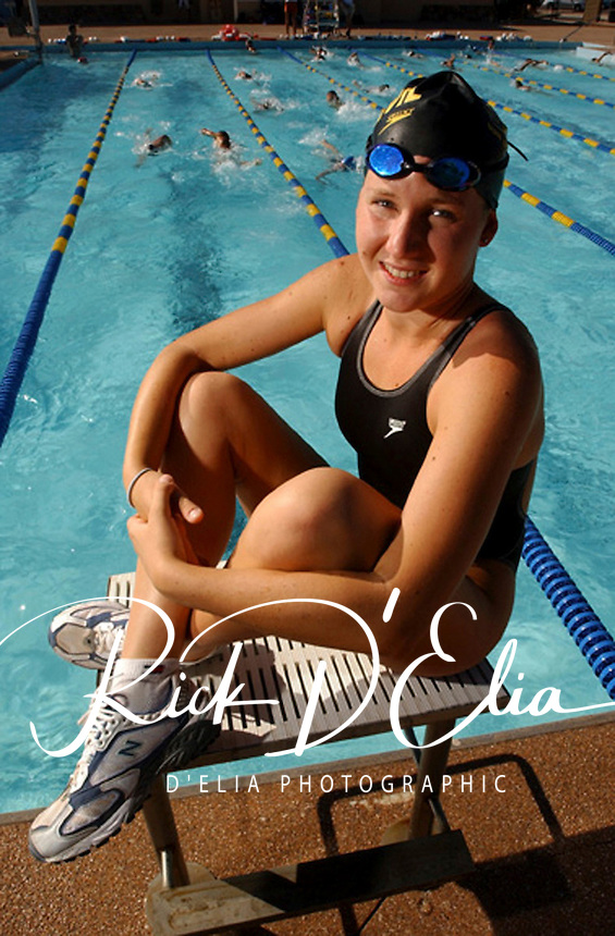 Sports:Rory Schmidt competes in swimming and corss country at Arcadia where she excells in both events. (Rick D'Elia/for the Tribune)