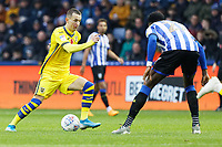 Bersant Celina of Swansea City (L) in action during the Sky Bet Championship match between Sheffield Wednesday and Swansea City at Hillsborough Stadium, Sheffield, England, UK. Saturday 09 November 2019