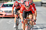 Andre Greipel (GER) Lotto-Soudal splits the peloton after a show of strength by his team in the very windy conditions to win Stage 3 of the 52nd Tour of Turkey running 158.9km from Aksaray to Konya, Turkey. 26th April 2016.<br /> Picture: Tour of Turkey/Brian Hodes | Newsfile<br /> <br /> <br /> All photos usage must carry mandatory copyright credit (© Newsfile | Tour of Turkey/Brian Hodes)