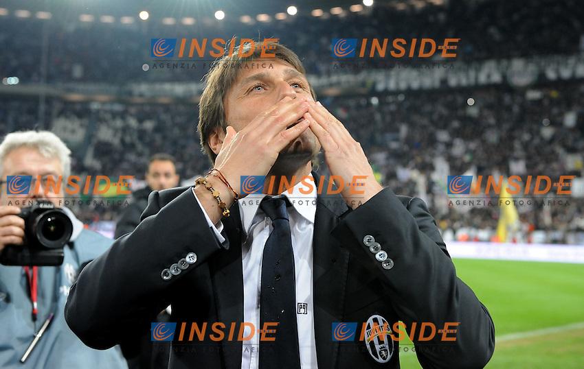 """Antonio CONTE (Juventus).Torino 22/04/2012 Stadio """"Juventus Stadium"""".Serie A 2011/2012.Football Calcio Juventus Vs Roma.Foto Insidefoto Alessandro Sabattini."""