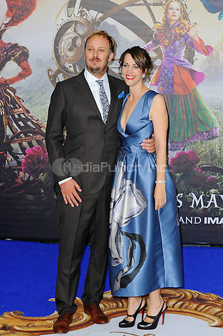 LONDON, ENGLAND - MAY 10: James Bobin and Fran Beauman attending the 'Alice Through The Looking Glass' European Premiere at Odeon Cinema, Leicester Square in London. on May 10, 2016 in London, England.<br /> CAP/MAR<br /> &copy; Martin Harris/Capital Pictures /MediaPunch ***NORTH AND SOUTH AMERICA ONLY***