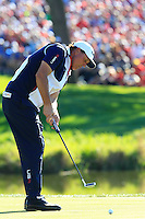 Phil Mickelson (Team USA) on the 16th green during Sunday Singles matches at the Ryder Cup, Hazeltine National Golf Club, Chaska, Minnesota, USA.  02/10/2016<br /> Picture: Golffile | Fran Caffrey<br /> <br /> <br /> All photo usage must carry mandatory copyright credit (&copy; Golffile | Fran Caffrey)