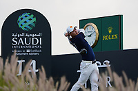 Jazz Janewattananond (THA) on the 14th during Round 2 of the Saudi International at the Royal Greens Golf and Country Club, King Abdullah Economic City, Saudi Arabia. 31/01/2020<br /> Picture: Golffile | Thos Caffrey<br /> <br /> <br /> All photo usage must carry mandatory copyright credit (© Golffile | Thos Caffrey)