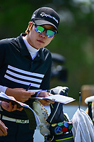 Eun Jeong Seong (KOR) looks over her tee shot on 13 during round 1 of  the Volunteers of America Texas Shootout Presented by JTBC, at the Las Colinas Country Club in Irving, Texas, USA. 4/27/2017.<br /> Picture: Golffile | Ken Murray<br /> <br /> <br /> All photo usage must carry mandatory copyright credit (&copy; Golffile | Ken Murray)