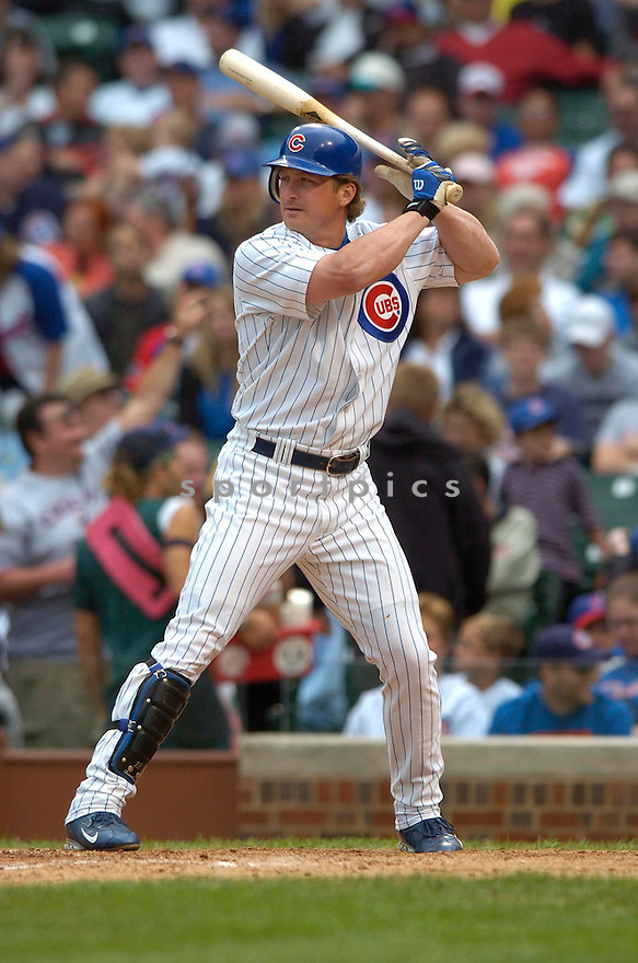 Todd Hollansworth, of the Chicago Cubs in action against the Florida Marlins on 6/15/05...Marlins win 2-0...David Durochik / SportPics