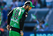 10th February 2019, Melbourne Cricket Ground, Melbourne, Australia; Australian Big Bash Cricket, Melbourne Stars versus Sydney Sixers;  Glenn Maxwell of the Melbourne Stars clears his mouth