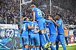 01.12.2018, wirsol Rhein-Neckar-Arena, Sinsheim, GER, 1 FBL, TSG 1899 Hoffenheim vs FC Schalke 04, <br /> <br /> DFL REGULATIONS PROHIBIT ANY USE OF PHOTOGRAPHS AS IMAGE SEQUENCES AND/OR QUASI-VIDEO.<br /> <br /> im Bild: Jubel ueber das Tor zum 1:0 durch Andrej Kramaric (TSG Hoffenheim #27)<br /> <br /> Foto &copy; nordphoto / Fabisch