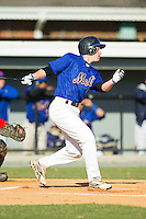 Zack Madden (2) of Bishop England High School at bat at the 2012 South Atlantic Border Battle on November 3, 2012 in Burlington, North Carolina.  The Mets (SC13) defeated the Red Sox (NC 13) 3-2.  (Brian Westerholt/Four Seam Images)