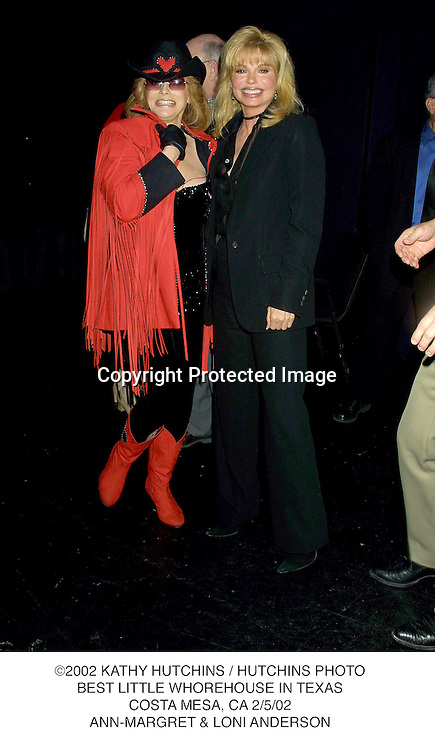 ©2002 KATHY HUTCHINS / HUTCHINS PHOTO.BEST LITTLE WHOREHOUSE IN TEXAS.COSTA MESA, CA 2/5/02.ANN-MARGRET & LONI ANDERSON