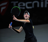 Women's doubles final between Paige Hourigan / Vivian Yang and Holly Stewart / Sarah Weekly (pictured). 2019 Wellington Tennis Open finals at Renouf Centre in Wellington, New Zealand on Sunday, 22 December 2019. Photo: Dave Lintott / lintottphoto.co.nz
