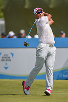 Hideki Matsuyama (JPN) watches his tee shot on 10 during round 4 of the AT&T Byron Nelson, Trinity Forest Golf Club, Dallas, Texas, USA. 5/12/2019.<br /> Picture: Golffile   Ken Murray<br /> <br /> <br /> All photo usage must carry mandatory copyright credit (© Golffile   Ken Murray)