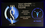 Tony Honors foe Excellence in the Theatre to Broadway Inspirational Voices Michael McElroy during The 73rd Annual Tony Awards Nominations Announcement on April 30, 2019 in New York City.