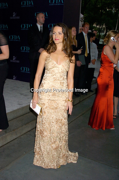 Kristen Davis ..at the  2004 CFDA Fashion Awards on June 7, 2004 at ..The New York Public Library.                                           Photo by Robin Platzer, Twin Images