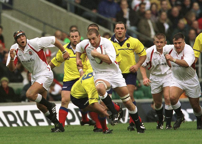 Photo Peter Spurrier..The Investec Challenge. 17th Nov 2001.England v Romania - Twickenham..Steve Borthwick.. ...........