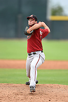 Arizona Diamondbacks pitcher Scott Schultz (31) during an Instructional League game against the Colorado Rockies on October 8, 2014 at Salt River Fields at Talking Stick in Scottsdale, Arizona.  (Mike Janes/Four Seam Images)