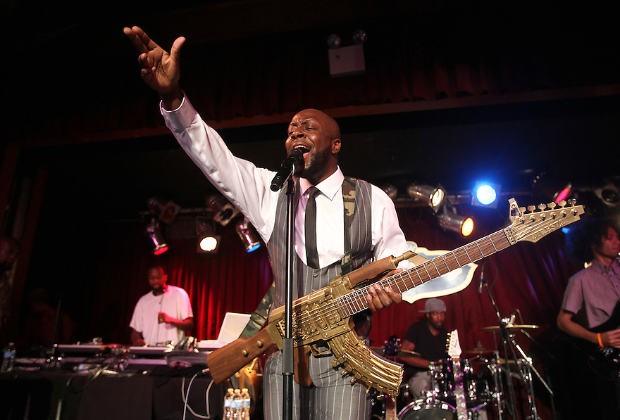 Musician Wyclef Jean performs at B.B. King Blues Club on Wednesday, June 19, 2013 in New York. (Photo by Soul Brother)