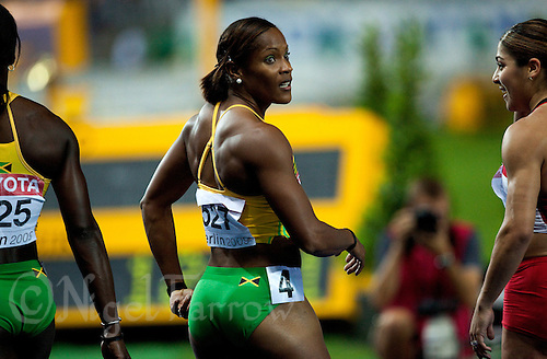 19 AUG 2009 - BERLIN, GER - Brigitte Foster-Hylton (JAM) waits for the results of the Womens 100m Hurdles Final at the World Athletics Championships (PHOTO (C) NIGEL FARROW)