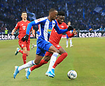 19.01.2020, OLympiastadion, Berlin, GER, DFL, 1.FBL, Hertha BSC VS. Bayern Muenchen, <br /> DFL  regulations prohibit any use of photographs as image sequences and/or quasi-video<br /> im Bild Salomon Kalou  (Hertha BSC Berlin #8), Alphonso Davies (FC Bayern Muenchen #19)<br /> <br />       <br /> Foto © nordphoto / Engler