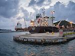 St. Thomas at Long Bay and Charlotte Amalie. Crown Bay container ships.