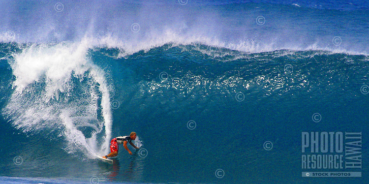 surfer riding the big waves