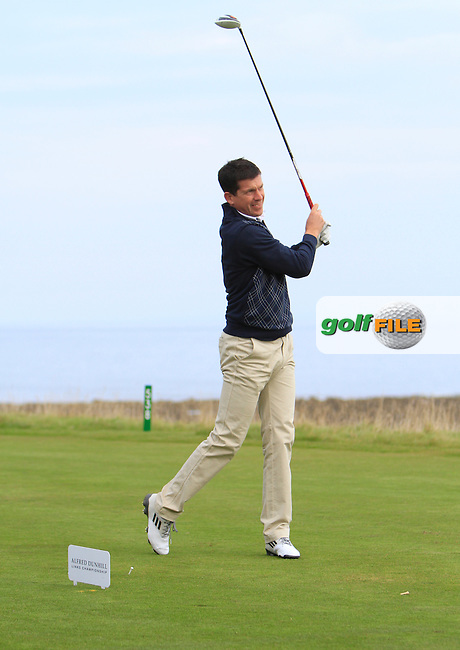 Tim Henman during Round 2 of the Alfred Dunhill Links Championship at Kingsbarns Golf Club on Friday 27th September 2013.<br /> Picture:  Thos Caffrey / www.golffile.ie