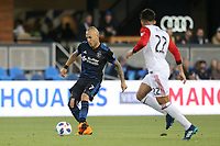 San Jose, CA - Saturday May 19, 2018: Magnus Eriksson during a Major League Soccer (MLS) match between the San Jose Earthquakes and D.C. United at Avaya Stadium.