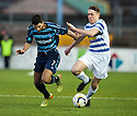 Morton's Mark Russell tries to get away from Forfar's Omar Kader.