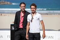 French actors Romain Depret and Jules Ritmanic  present the film: 'Wild Life' during the 62st San Sebastian Film Festival in San Sebastian, Spain. September 26, 2014. (ALTERPHOTOS/Caro Marin) /NortePhoto.com