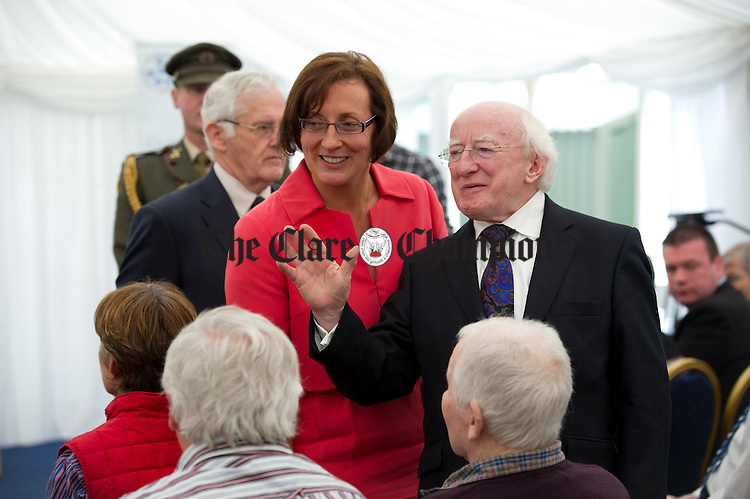 President Michael D Higgins is introduced to clients and their families at the official opening of the Watermans Lodge day Care and Respite centre at Ballina. Photograph by John Kelly.
