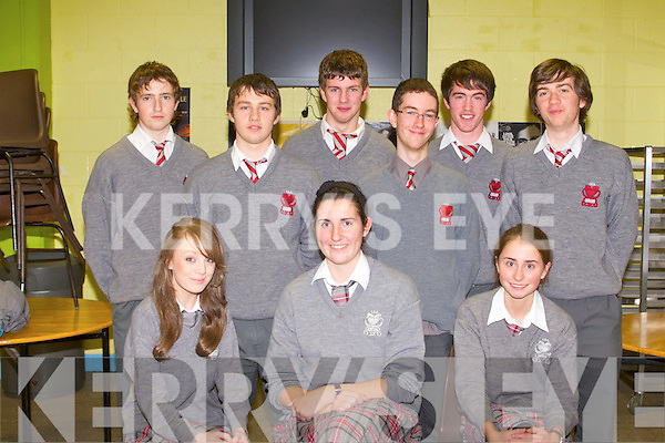 QUIZ: The students of I.S.K. who took part in the KSTA secondary school science quiz at the IT Tralee south campus on Thursday seated l-r: Blathnaid Buckley, Maeve McGillycuddy and Laura Kennelly. Back l-r: John O'Connor, Kevin O'Sullivan, James O'Donoghue, Evan McMahon, T. J. O'Sullivan and Brian Crowley.