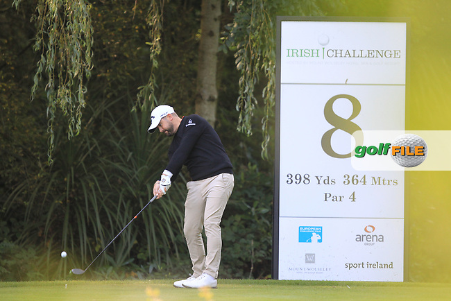 Matthew Baldwin (ENG) during round 1 of the Irish Challenge, Mount Wolseley Hotel and Golf Resort, Tullow, Co Carlow, Ireland 14/09/2017<br /> Picture: Fran Caffrey / Golffile<br /> <br /> All photo usage must carry mandatory copyright credit (&copy; Golffile | Fran Caffrey)