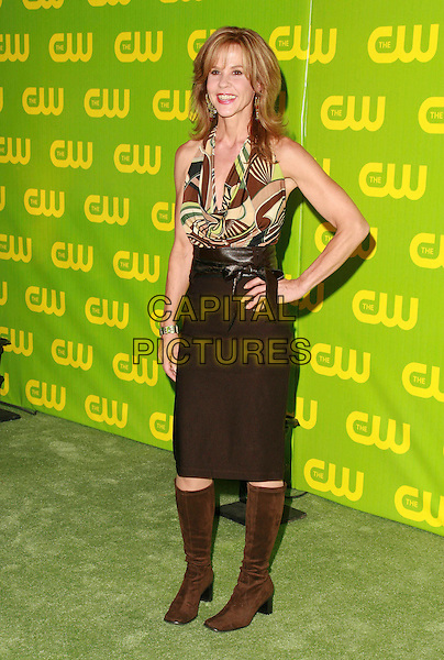 LINDA BLAIR.The CW Network Launch Party held at Warner Bros. Studios Main Lot, Burbank, California, USA,.18 September 2006..full length hand on hip.Ref: ADM/CH.www.capitalpictures.com.sales@capitalpictures.com.©Charles Harris/AdMedia/Capital Pictures.