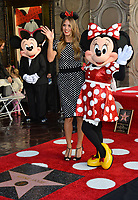 Heidi Klum, Minnie Mouse & Mickey Mouse at the Hollywood Walk of Fame Star Ceremony honoring Disney character Minnie Mouse, Los Angeles, USA 22 Jan. 2018<br /> Picture: Paul Smith/Featureflash/SilverHub 0208 004 5359 sales@silverhubmedia.com