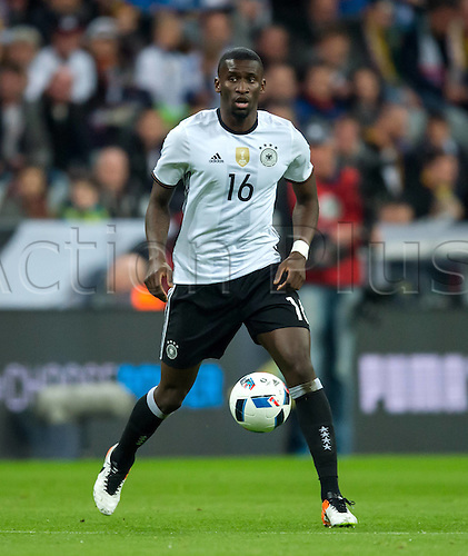 29.03.2016. Munich, Germany. International soccer match between Germany and Italy, at the Allianz Arena in Munich.  Antonio Ruediger (Ger)