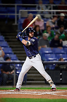 Binghamton Rumble Ponies first baseman Joey Terdoslavich (20) at bat during a game against the Portland Sea Dogs on August 31, 2018 at NYSEG Stadium in Binghamton, New York.  Portland defeated Binghamton 4-1.  (Mike Janes/Four Seam Images)