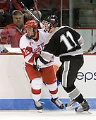 Garrett Noonan (BU - 13), Tim Schaller (Providence - 11) - The Boston University Terriers defeated the visiting Providence College Friars 2-1 on Saturday, October 23, 2010, at Agganis Arena in Boston, Massachusetts.