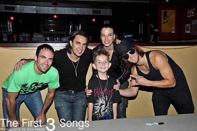 Josh Smith, Joe Hottinger, Lzzy Hale, and Arejay Hale of Halestorm perform at Bogarts in Cincinnati, Ohio.