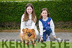 """Enjoying  the Kingdom County Fair in Ballybeggan on Sunday were Shauna Moriarty and Ava Moriarty from Caherslee, Tralee with their dog """"Abbie""""."""