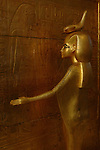 Goddess Selket, Tutankhamun gold canopic shrine, Egypt, New Kingdom, Valley of the Kings, Egyptian Museum, Cairo