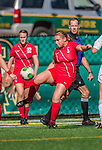 29 September 2013: Stony Brook University Seawolves Midfielder Lindsay Hutchinson, a Freshman from Millersville, PA, in action against the University of Vermont Catamounts at Virtue Field in Burlington, Vermont. The Lady Seawolves defeated the Catamounts 2-1 in America East play. Mandatory Credit: Ed Wolfstein Photo *** RAW (NEF) Image File Available ***
