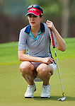 CHON BURI, THAILAND - FEBRUARY 17:  Sandra Gal of Germany lines up a putt on the 17th green during day two of the LPGA Thailand at Siam Country Club on February 17, 2012 in Chon Buri, Thailand.  Photo by Victor Fraile / The Power of Sport Images