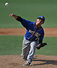 Ray Weber #37, West Islip pitcher, delivers to the plate in the bottom of the third inning inning in the Class AA varsity baseball Long Island Championship against East Meadow at Farmingdale State College on Saturday, June 4, 2016.