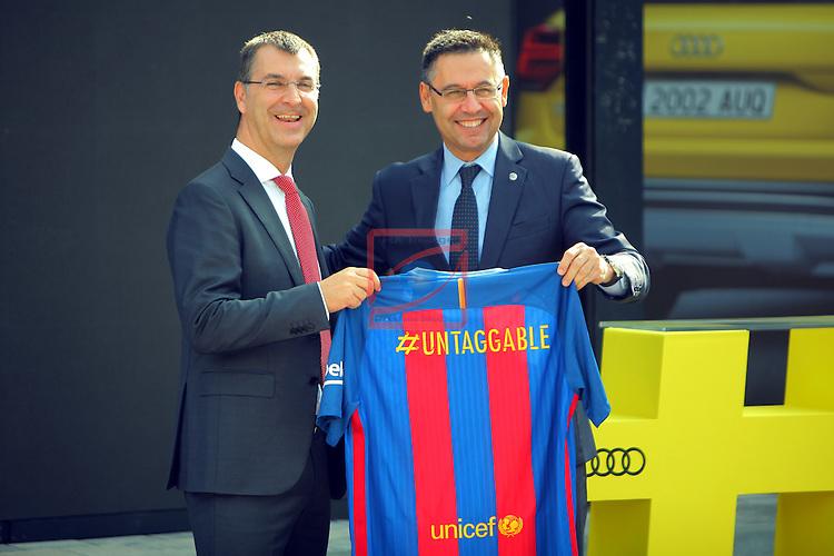 AUDI Premium Partner del FC Barcelona.<br /> Guillermo Fadda &amp; Josep M. Bartomeu.