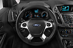 Steering wheel view of a 2014 Ford Transit Connect Trend 5 Door Minivan 2WD