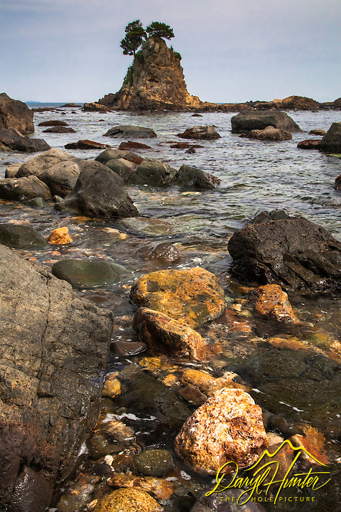 Low tide at Minokake Rocks south of Shimoda Japan.