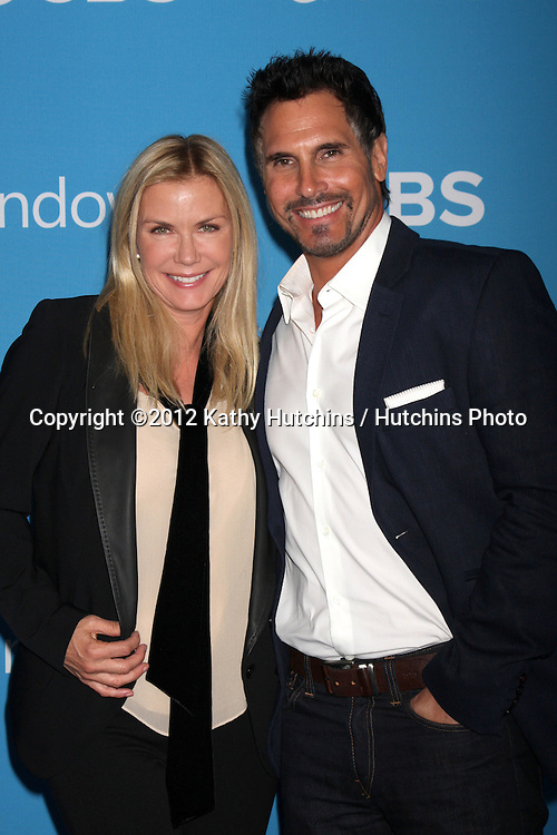 LOS ANGELES - SEP 15:  Katherine Kelly Lang, Don Diamont arrives at the CBS 2012 Fall Premiere Party  at Greystone Manor on September 15, 2012 in Los Angeles, CA